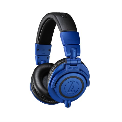 Audio Technica ATH-M50XBB Professional Studio Monitor Headphones, Blue And BlackClosed