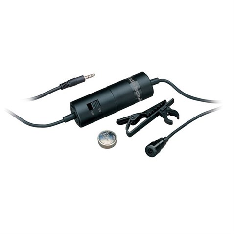Audio Technica ATR3350 Miniature lavalier microphone with integral battery pack