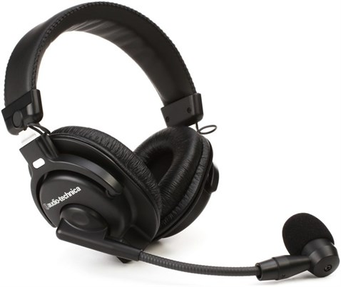Audio Technica BPHS1 Broadcast stereo headset with dynamic boom microphone, Closed-back Dynamic (Headphone) , Cardioid Dynamic (Microphone)