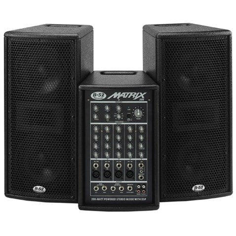 B-52 Matris-200 2x6,5 2x100W Active System Powered Stereo Mikser