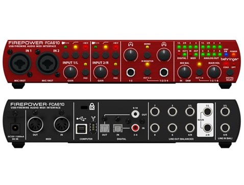 Behringer Firepower FCA610 6 in 10 out Ses Kartı