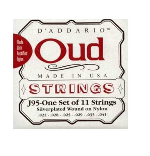 DAddario J95S Ud Teli Silver Plated