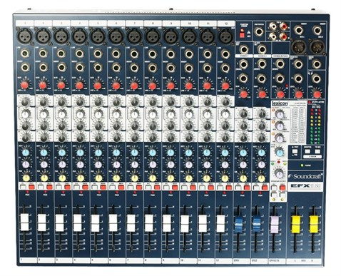 Soundcraft Efx12 8+2 and 12+2 channel Audio Analog Mixer