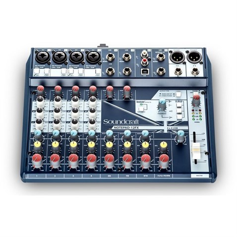 Soundcraft Notepad 12FX Small-format Analog Mixing Console with USB I/O and Lexicon Effects