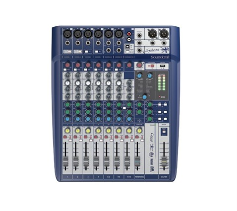 Soundcraft Signature 10 Efektli, 10 Kanal Deck Mikser