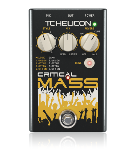 TC Helicon Critical Mass Vocal Efekt Pedal